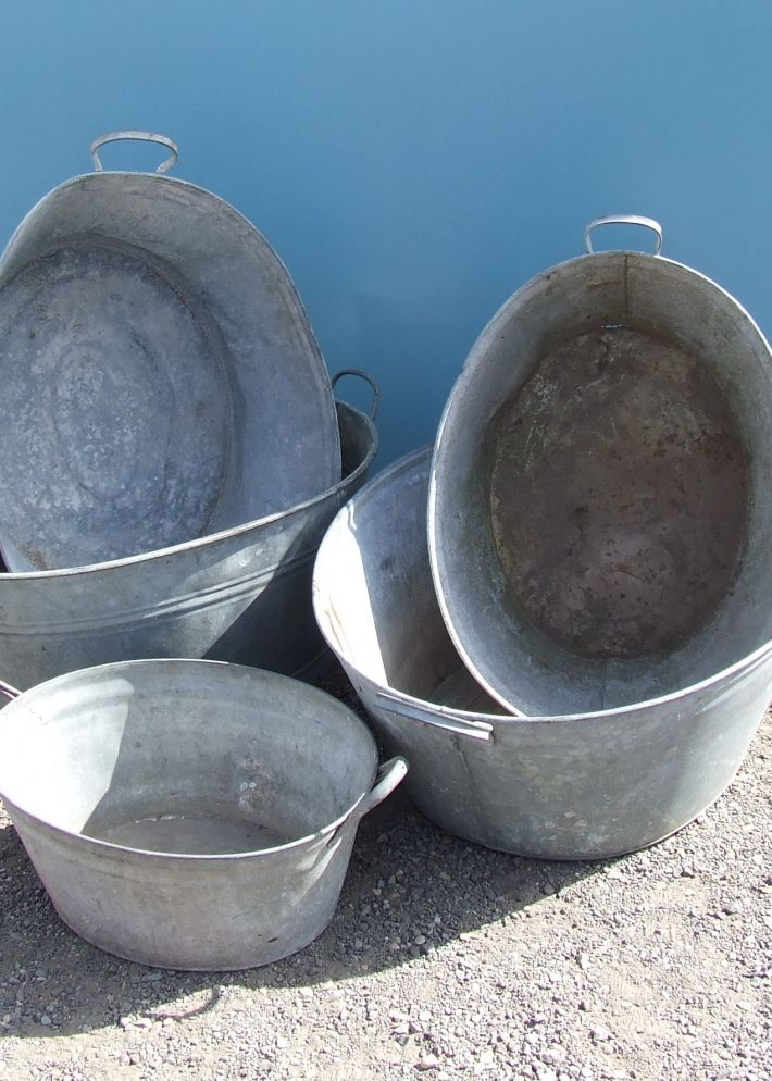 tin baths.