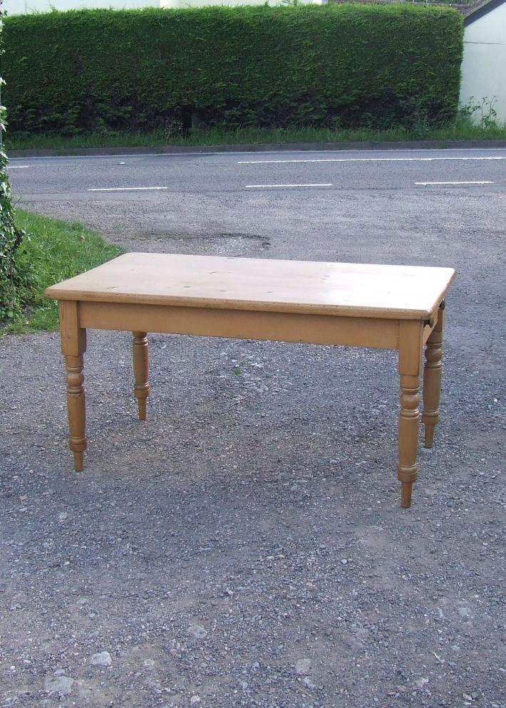 Edwardian pine kitchen table - shop - Antiques, Stripped ...